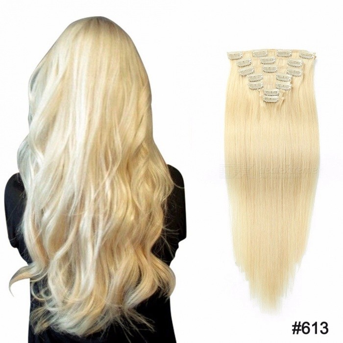 20-Inches-7PCSSet-Multi-Color-Clip-In-Straight-Human-Hair-Extensions-For-Women-Burg20-inches