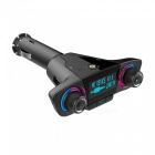 IMOS BT06 Dual Head Bluetooth Car Charger Kit with AUX Line MP3 Player, FM Transmitter - Black