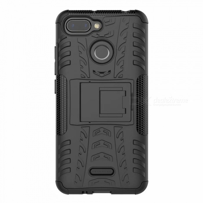 3D Relief Emboss Phone Cover Back Case with Holder for Xiaomi Redmi 6/6A