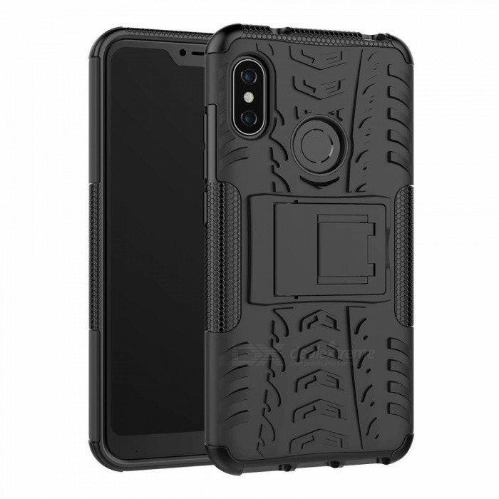 3D Relief Emboss Phone Cover Back Case with Holder for Xiaomi Redmi 6 Pro