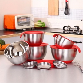 Ingredients-Standby-Bowls-Mixing-Bowl-Stainless-Steel-Salad-Mixer-Kitchen-Cooking-Tool-With-A-Cover-With-A-Planer-Red