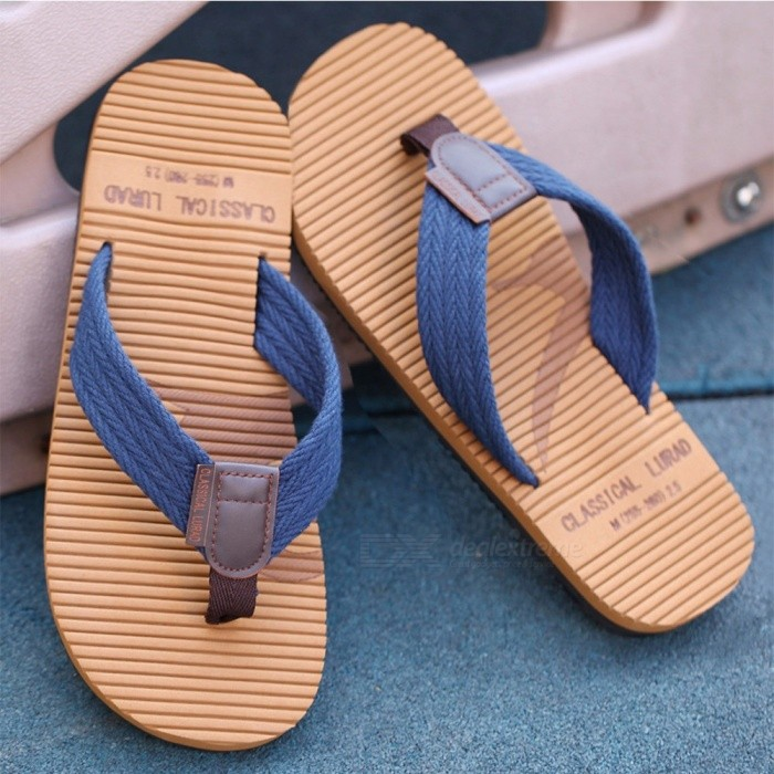 LURAD-Summer-Mens-Flip-Flops-Casual-Sewing-Slippers-Beach-Skid-Resistance-Sandals-For-Men-Blue39
