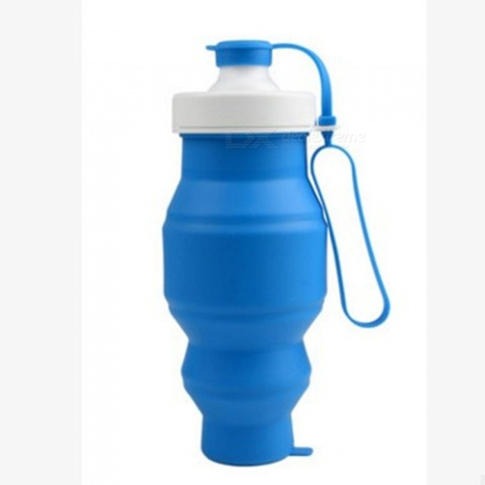 Food Grade 500ML Silicone Collapsible Water Bottles Travel Folding Cars Portable Foldable Drink Bottle