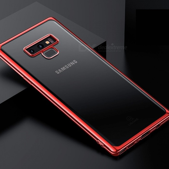 usams plating tpu soft hard phone case shell, back cover for samsung galaxy note9 tpu