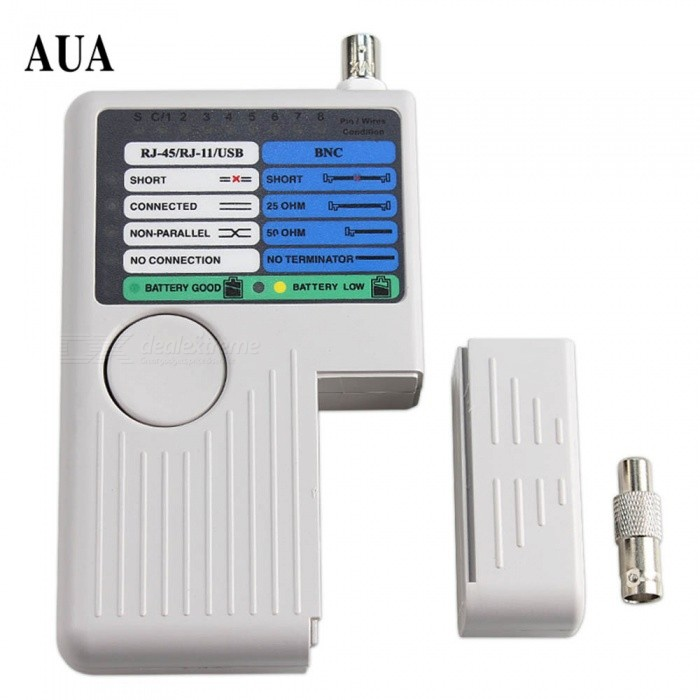 RJ11 RJ45 USB BNC 4-in-1 Portable LAN Network Cable Tester Remote for UTP STP Cables Tracker