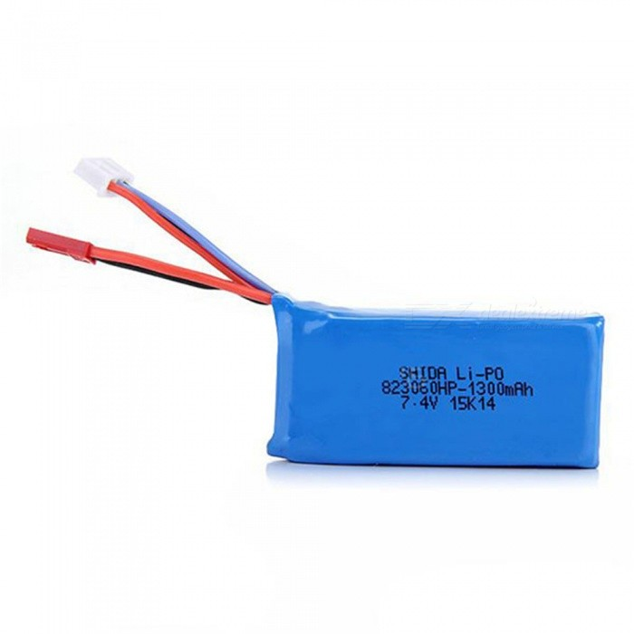 7.4V 30C 1300mAh JST Plug Rechargeable High Lipo Battery for RC Helicopter Quadcopter