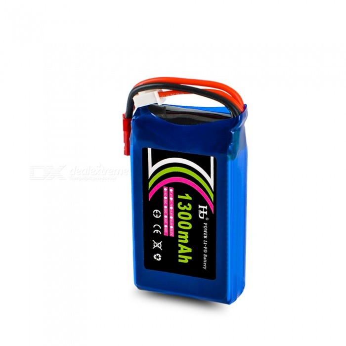 HJ POWER 7.4V 25C 1300mAh JST Plug High Lipo Battery for RC Remote Control Helicopter Quadcopter Drone