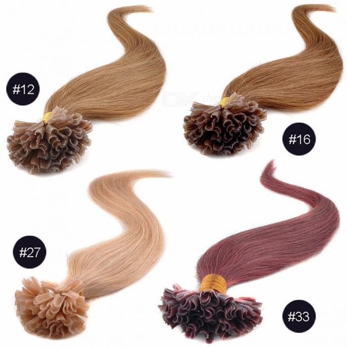 Hair-Extensions-10025-Human-Hair-Bundles-With-Closure-Tint-Hair-Weave-Bundles-Straight-4-Colors-16-Inch-1216-inches100-Strands