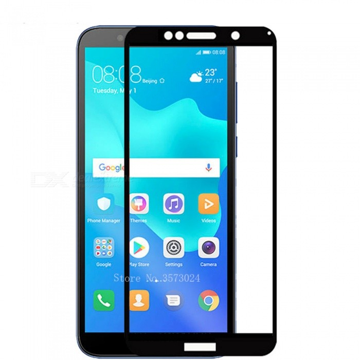 Naxtop Tempered Glass Screen Protector for Huawei Y5 Prime (2018) - Black