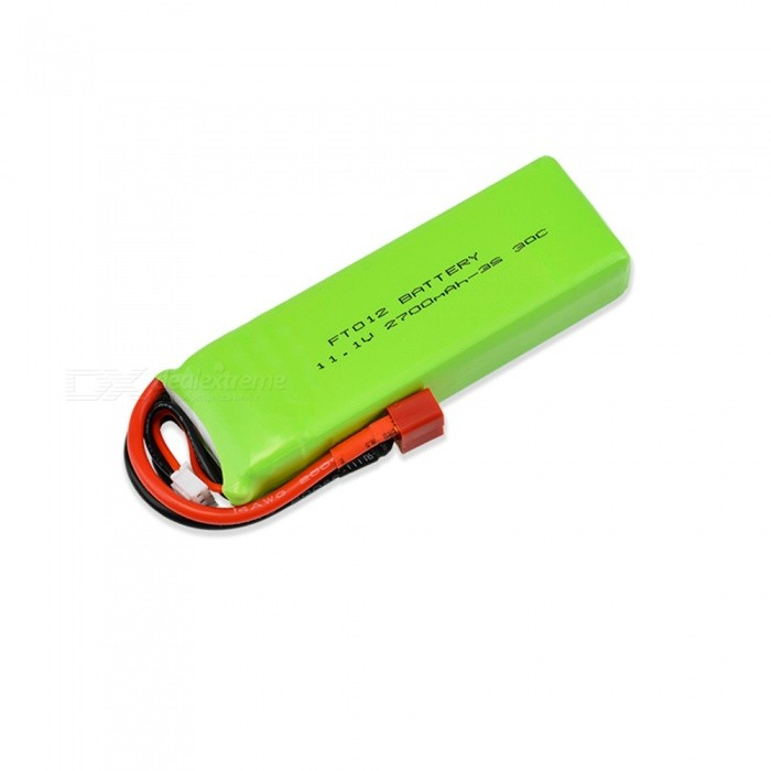 11.1V 30C 2700mAh T Plug High Lipo Battery for FT012 Speedboat / Remote Control Helicopter / Quadcopter 1Pcs - Green