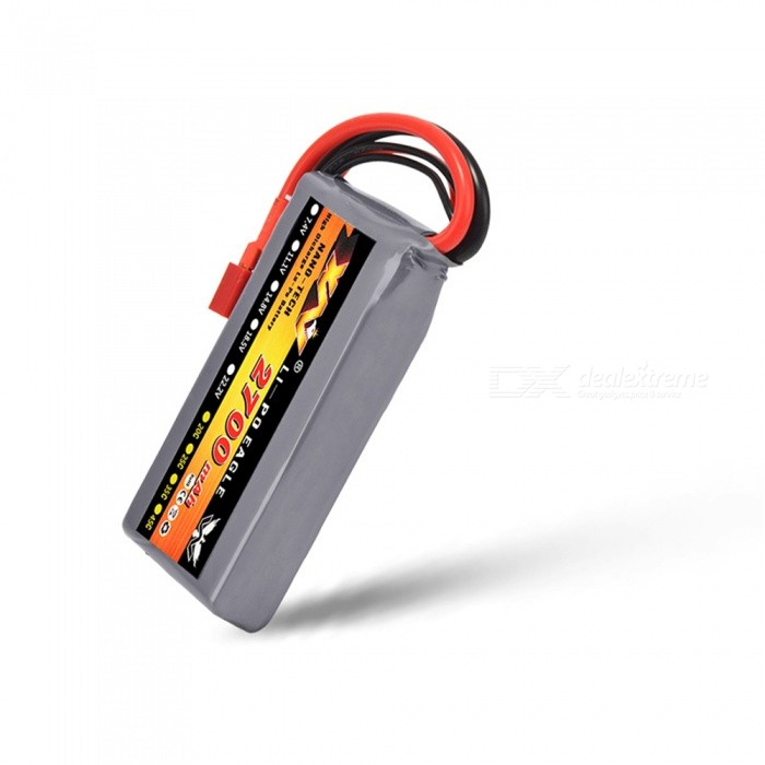 7.4V 20C 2700mAh T Plug High Lipo Battery for WL12428 Four-wheel Remote Control Vehicle Helicopter Quadcopter Drone Part