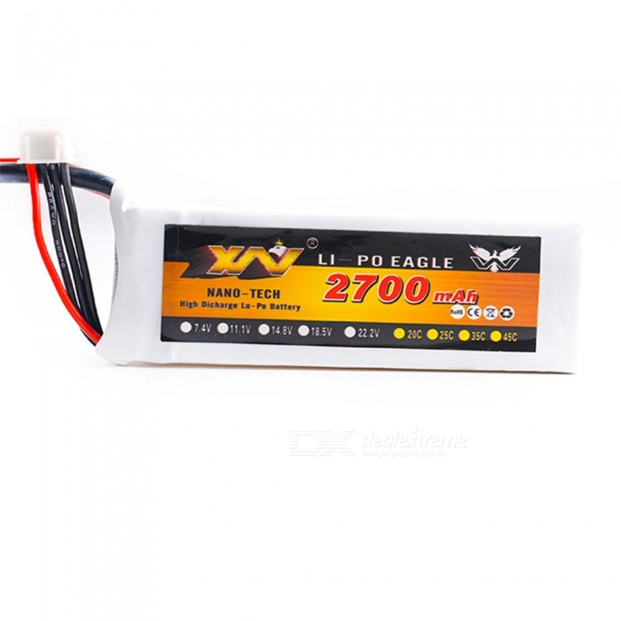 11.1V 25C 2700mAh XT60 Plug High Lipo Battery for Remote Control Helicopter / Quadcopter - White