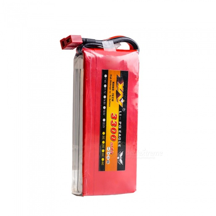 11.1V 25C 3300mAh T Plug F450 High Lipo Battery for Remote Control Helicopter / Quadcopter - Red