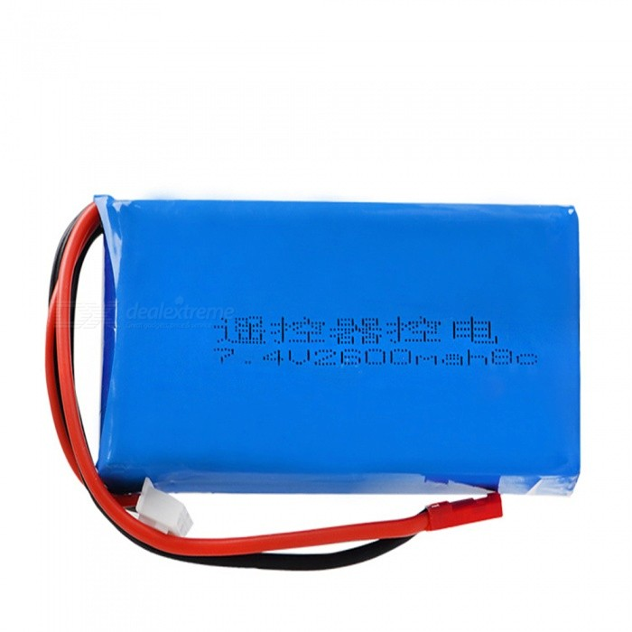 7.4V 8C 2600mAh JST Plug High Lipo Battery for RC4GS RC3S Transmitter / RC Remote Control Helicopter / Quadcopter - Blue