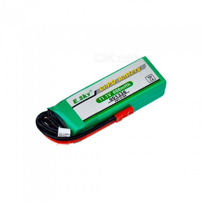 EK1-0188 Polymer Lipo battery 11.1V 800mAh 20C for HM RC Car Airplane Helicopter Toy - Green