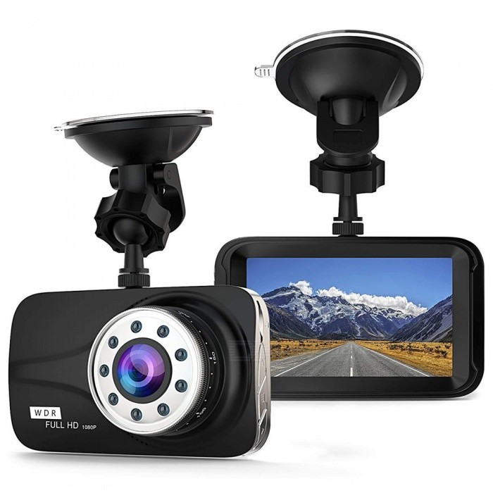 """1080P 3"""" LCD Car DVR Singnal Camera Video Recorder with G-Sensor / Night Vision / Motion Detection / WDR 170 Degree Wide Angle"""