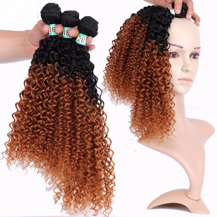 Jerry-Curly-Synthetic-Hair-Bundles-10025-High-Temperature-Fibers-Hair-Extensions-FSR-JERRYT1B30-3-Bundles-Set-t1b3016-inches