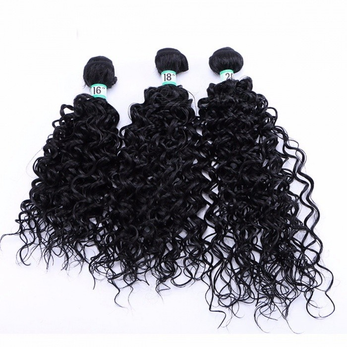 Water-Wave-Hair-Bundles-10025-High-Temperature-Fibers-Hair-Extensions-Water-Curly-1B-3-Bundles-Set-1B16-inches