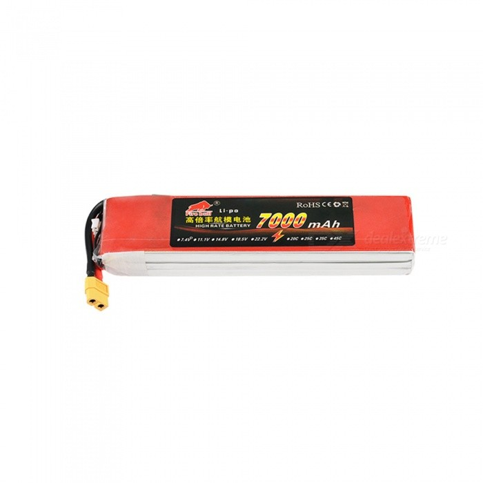 1PC 11.1V 35C 7000mAh XT60 plug High Lipo Battery Remote Control Helicopter Quadcopter Drone Part - Red