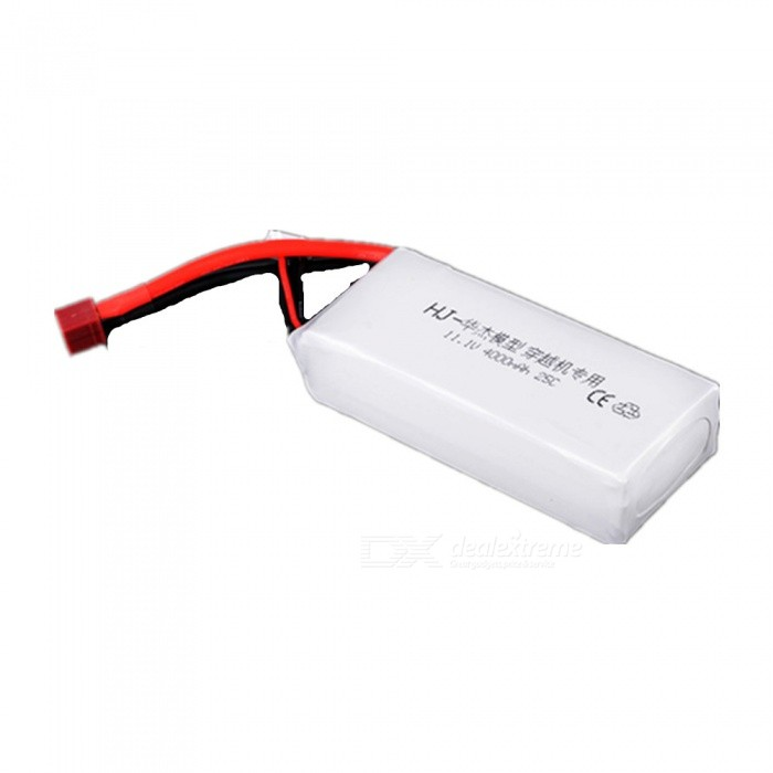 HJ POWER 1PC 11.1V 25C 4000mAh T plug for QAC250 High Lipo Battery Remote Control Helicopter Quadcopter Drone Part - White