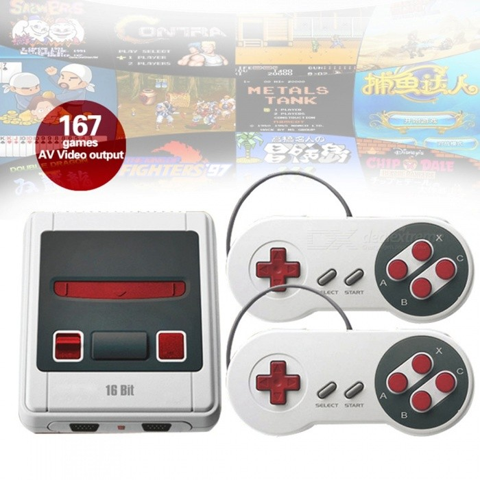 Retro Mini Game Console, TV Out 16 Bit Handheld TV Video Game Console with  Built-In 167 Classic Games - EU Plug
