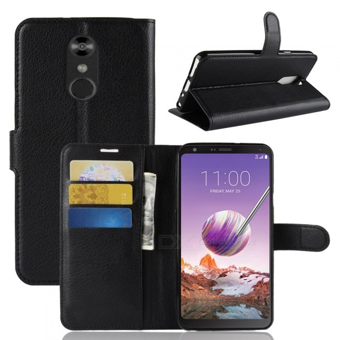 Naxtop Phone Wallet Flip Leather Holder Cover Case for LG Q Stylus
