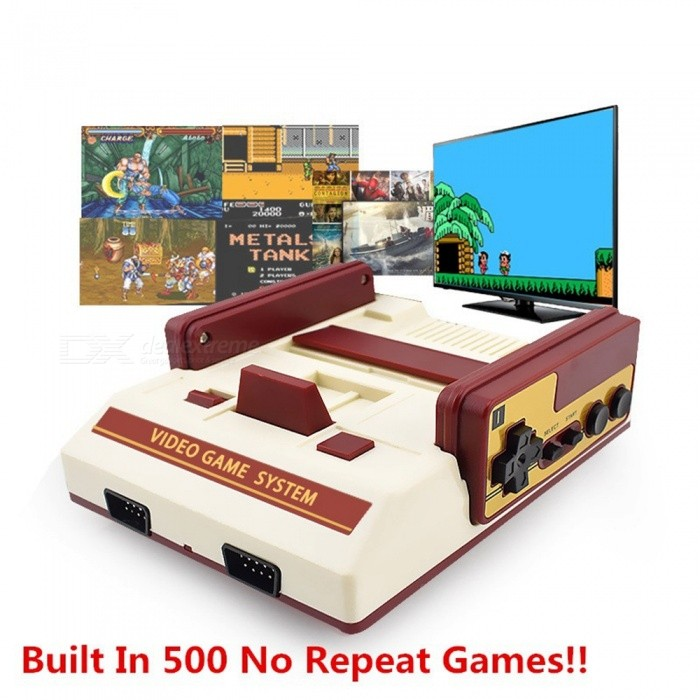 Image of Mini Family TV Handheld Game Console, 8 Bit Video Game Player with Built In 500 No Repeat Games - EU Plug