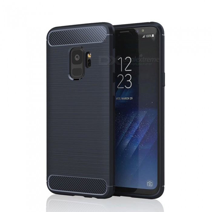 Brushed Skid-proof Carbon Fiber TPU Case for Samsung Galaxy S9 Plus