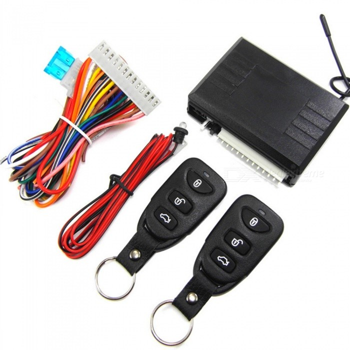 M616-8113 Car Keyless Access to Central Lock with Indicator + 2 Remote Controls - Black