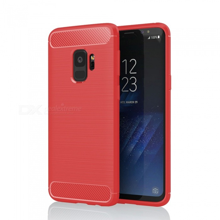 Brushed Skid-proof Carbon Fiber TPU Case for Samsung Galaxy S9