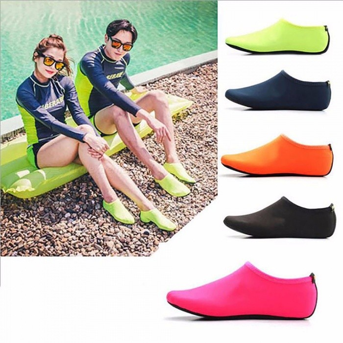 Water Sports Swimming Diving Socks, Anti Skid Beach Socks Shoes, Adult Diving Boots Wet Suit Shoes For Men Women Green/L