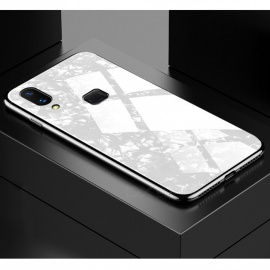 Cell Phone Case Shell Print Fitted Glass Glitter Phone Cases For Vivo Y85Z1 White/PC
