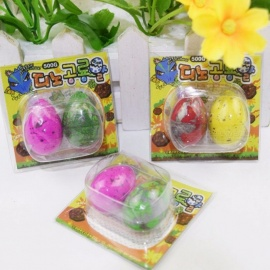 Cute Magic Hatching Growing Dinosaur Eggs Novelty Gag Toy For Child Kids, Educational Toys Gifts (2 PCS) Random Color
