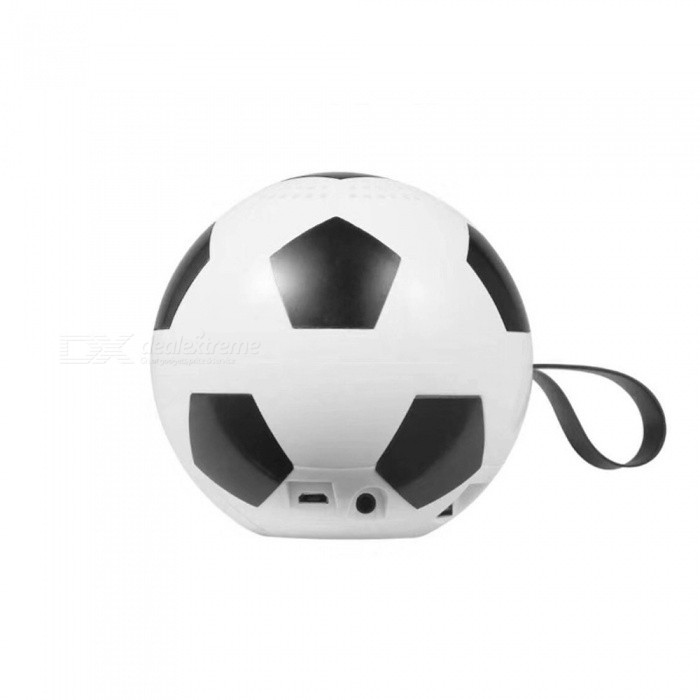 Portable Mini Wireless Bluetooth Speaker, Football Subwoofer With HIFI Sound, Voice Prompts, FM Radio, TF Card Slot White