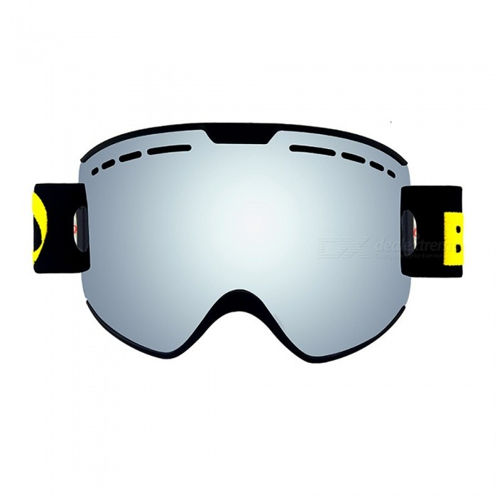 Buy Parent Child Ski Goggles 2 Pack Set Snowboard Anti fog Skiing Glasses UV400 for Family Men Women Kids Snow Glasses - Silver with Litecoins with Free Shipping on Gipsybee.com