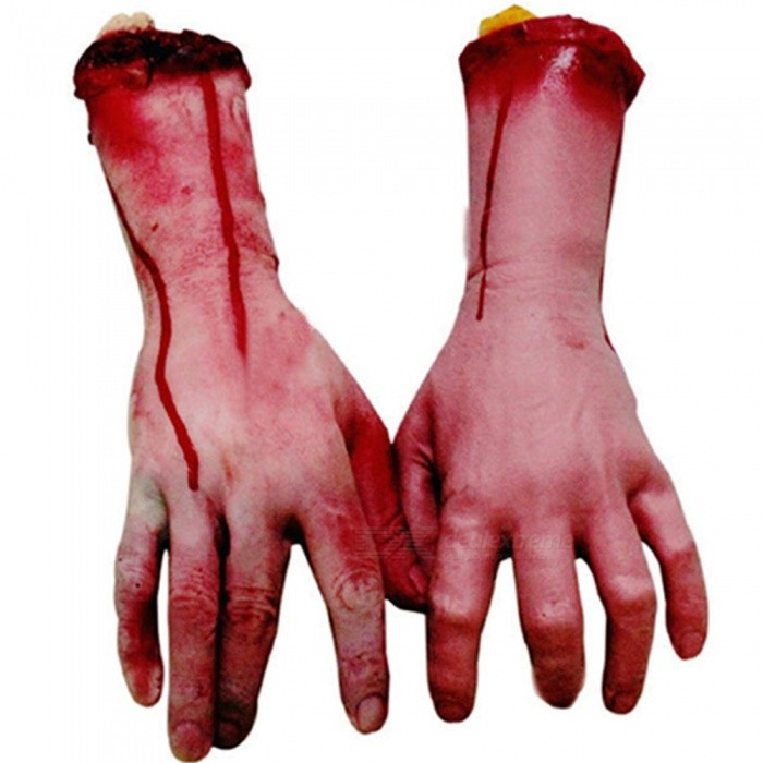 Halloween Props, April fool's Day Props, Horrible Bloody Hand Tricky Toy