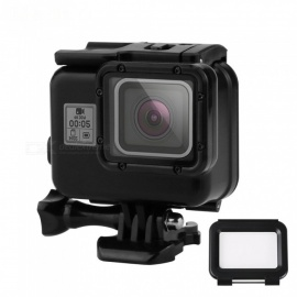 with Buckle Basic Mount /& Lead Screw Durable 45m Waterproof Housing Protective Case Need to Disassemble Lens When Installed 2 in 1 for GoPro HERO6 //5 Touch Screen Back Cover Color : Black