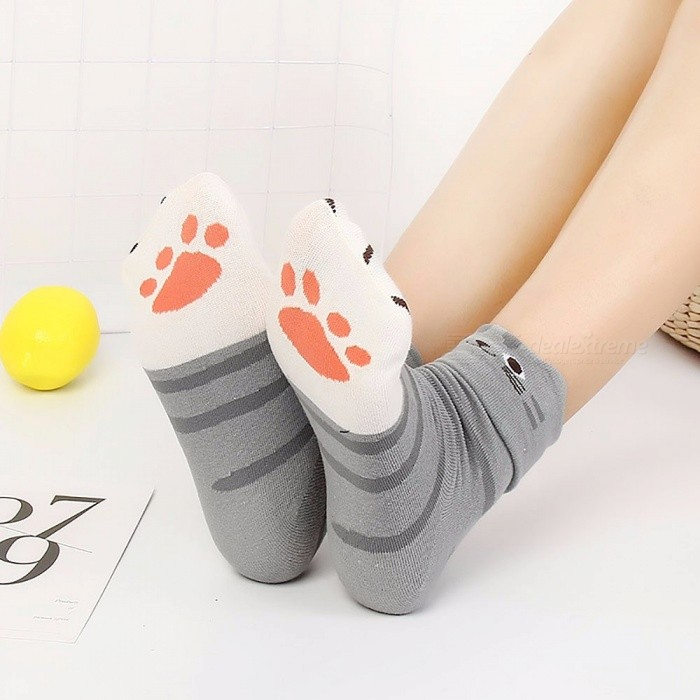 Cartoon Stereo Animal Cat Ears Tube Socks, Casual Cotton Cute Socks For Girls Women (1 Pair)