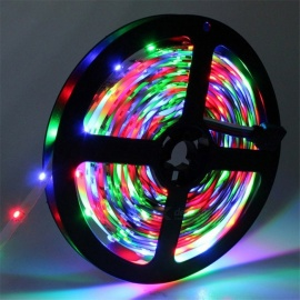 YWXLight 3528SMD 300-LED Strip Light, 5M 12V Super Bright Flexible Tape - RGB Light