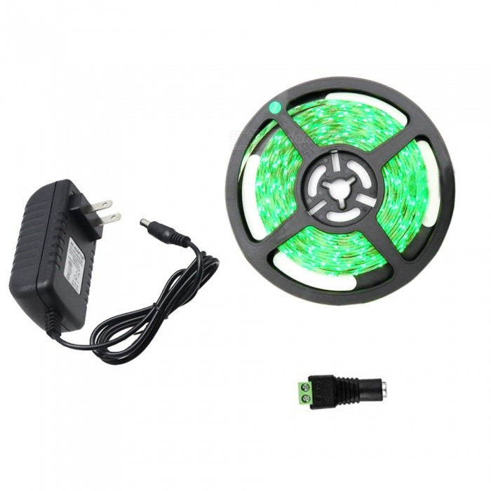 YWXLight 2835 SMD 300 LED Strip Light, 5M Super Bright Flexible Tape - Green Light / US Plug
