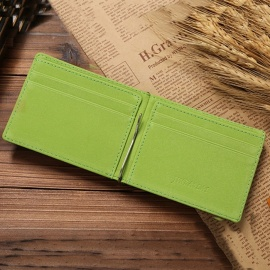 JIN-BAO-LAI-Leather-Men-Money-Clips-Metal-Solid-Wallets-Dollar-Purses-Credit-Card-Holder