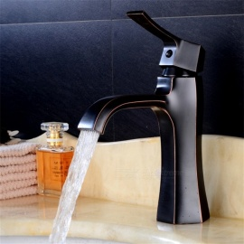 Contemporary-Brass-Ceramic-Valve-One-Hole-Bathroom-Sink-Faucet-w-Single-Handle