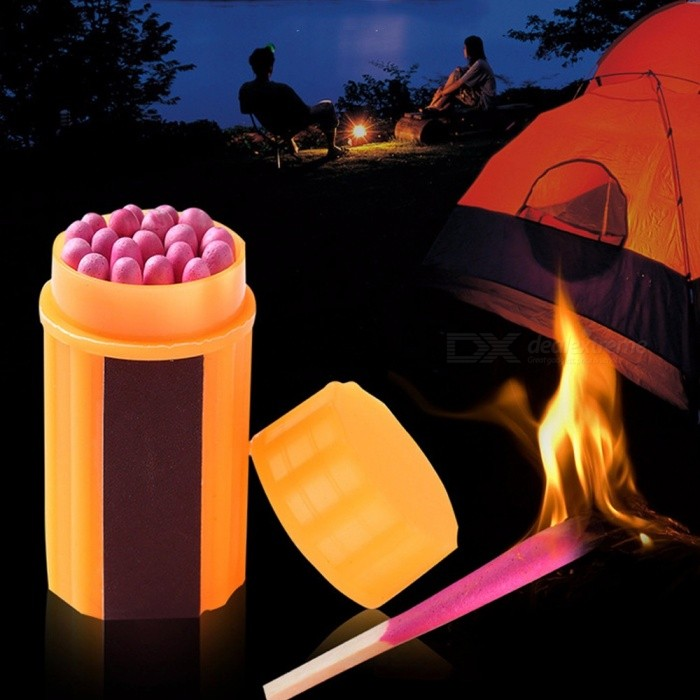 Waterproof Pocket EDC Survival Kit, Pill / Match / Stitch Case Box Container, Outdoor Tool Emergency Gear Travel Kit Orange