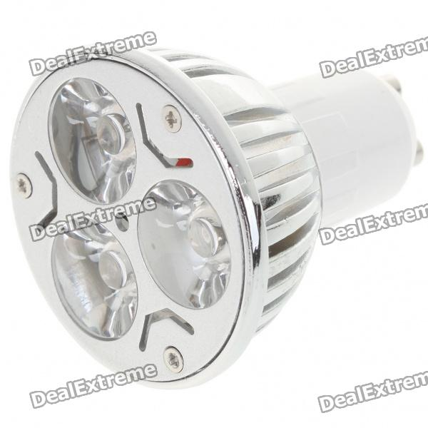 GU10 3W 260lm 3500K Warm White Light 3-LED Cup Bulb (AC 220V)