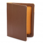 Protective-Litchi-Texture-PU-Leather-Case-for-Ipad-2-Coffee