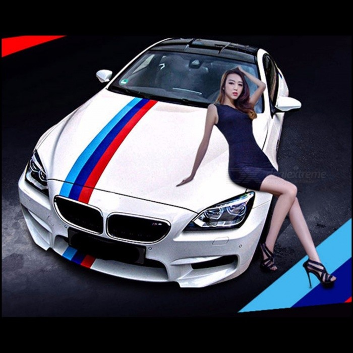 Car-Styling Sticker Flag Three-color PVC Stripe Decal Bumper Sticker Car Decoration Stickers Italian Green