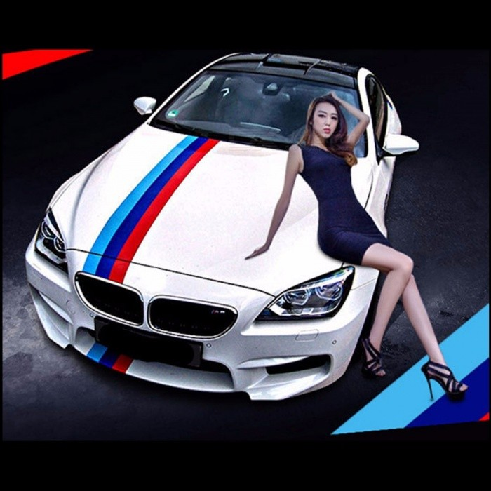 Car-Styling Sticker Flag Three-color PVC Stripe Decal Bumper Sticker Car Decoration Stickers Germany Black