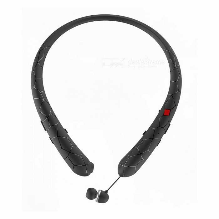 HX831-Bluetooth-Retractable-Earbuds-Headset-Neckband-Sport-Headphone-Wireless-Stereo-Earphone-With-Mic-White