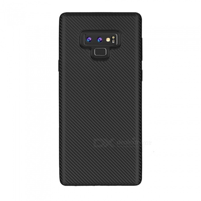 Protective Carbon Fiber TPU Ultra-thin Soft Case for Samsung Note 9 - Black
