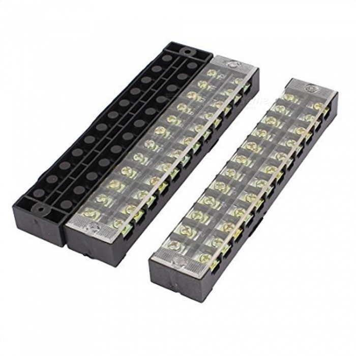 BTOOMET-10Pcs-600V-25A-Dual-Row-12-Position-Covered-Screw-Terminal-Block-sTB2512